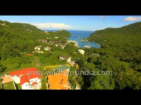St. Lucia is a wealthy island in the Caribbean - see the high life from the air