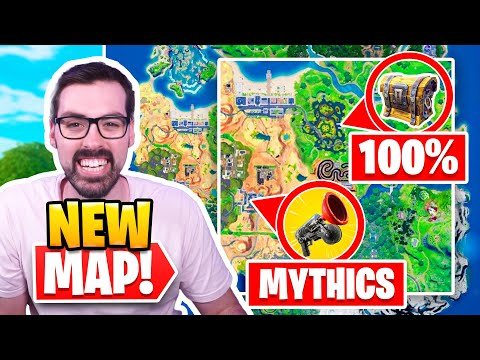 My Perfect Map for Season 7 - Mythics, 100% Chest Spawn, 150 Players