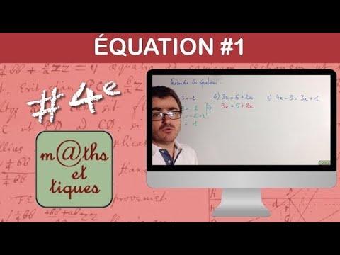 Résoudre une équation (1) - Troisième