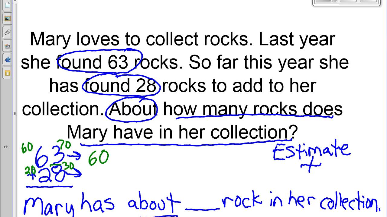 worksheet Estimation Word Problems estimating in word problems video youtube video