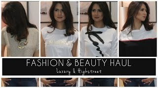 Try-On Haul |Luxury Fashion & Beauty ft. Ferragamo, Balmain, Kenzo & more