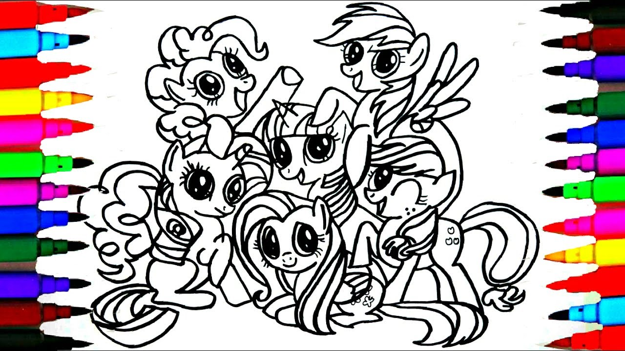 How To Draw Mlp Friendship Is Magic Coloring Drawing Pages Videos For Kids L Art L Colored Pens Youtube