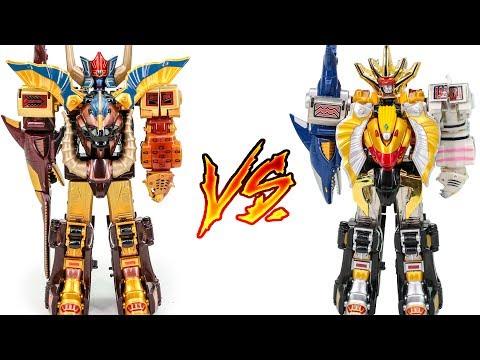 PowerRangers GaoRanger DX GaoGod VS DX GaoKing WildForce Animus MegaZord Jungle Beast Transformation
