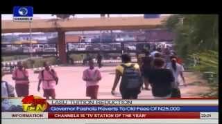 News@10: Gov Fashola Surprises LASU Students With Tuition Reduction