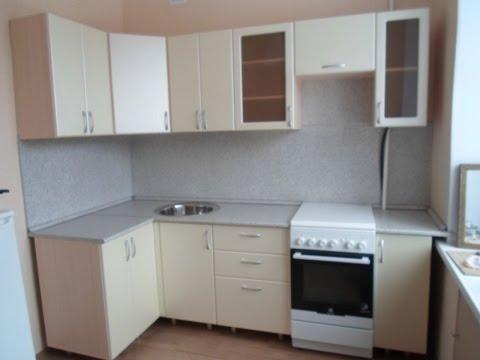 Кухня угловая, стеновая панель пластик, столешница 26мм