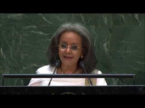 Ethiopian President Sahle-Work Zewde addresses UN General Assembly (26 Sep. 19)