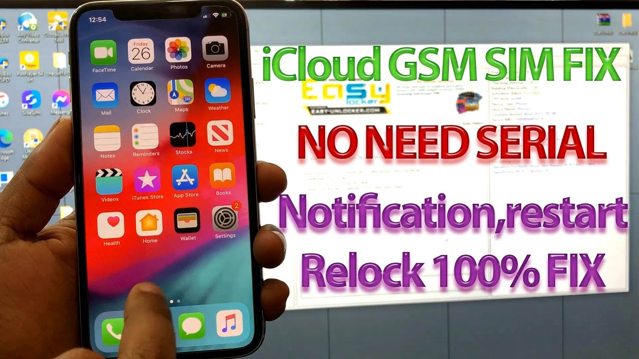 NEW Windows iPhone X GSM iCloud Acltivation Remove With SIM FIX,Notification,Restart FIX,All iOS📶