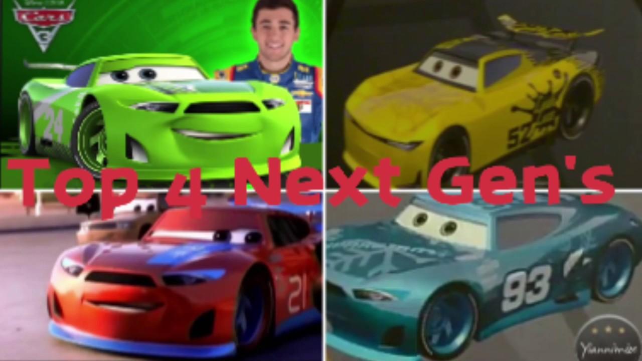 Cars 3 My 4 Favorit Next Gen Racer Hd Youtube