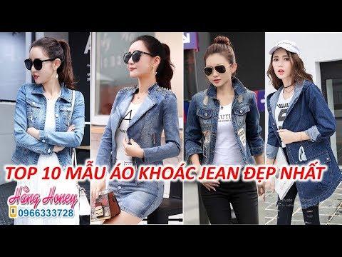 Top 10 Mẫu Áo Khoác Jean Nữ đẹp Nhất Giá Rẻ