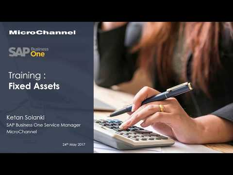 SAP Business One Training - Fixed Assets Management