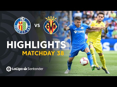 Highlights Getafe CF vs Villarreal CF (2-2)