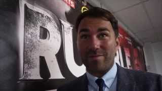 EDDIE HEARN REACTS TO CAMPBELL'S STOPPAGE WIN OVER COYLE & WINS FOR BRIAN ROSE / DILLIAN WHYTE