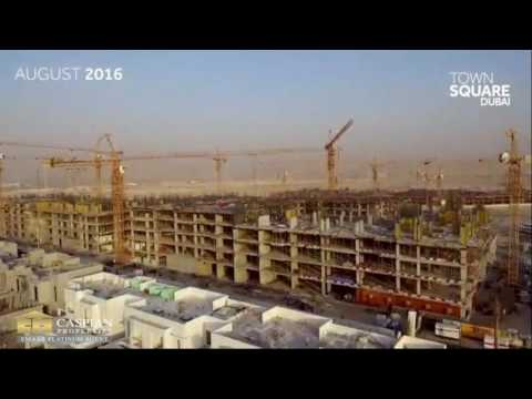 Town Square Dubai Construction Drone footage in August 2016  3