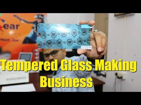 Mobile Tempered Glass Protector Making टेम्पर्ड ग्लॉस बनाने का लघु उद्योग