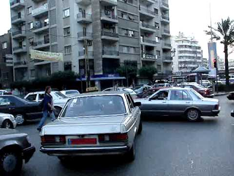 Liban Bejrut ruch uliczny traffic - Beirut Beyrouth Lebanon (2005)