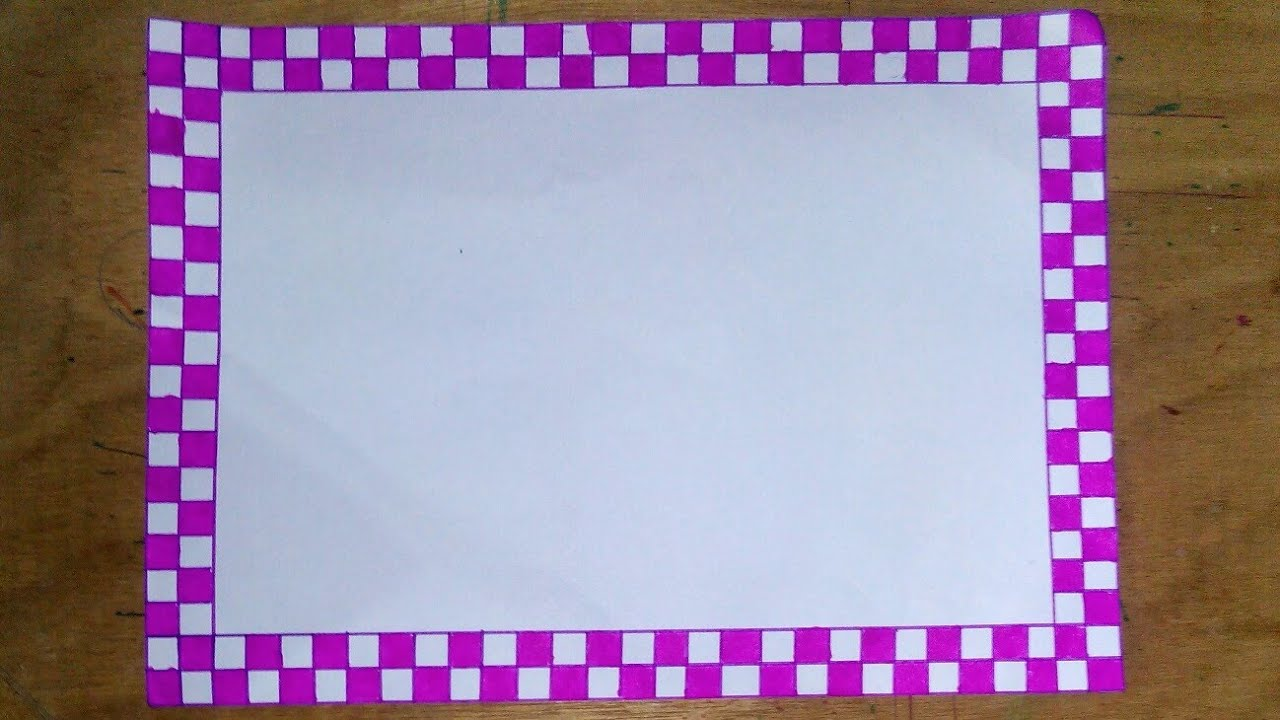 Simple Border Design To Draw On Paper Simple Border Design For Project Workassignment Front Page