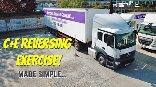 C+E   Class 1 Reveŗsing exercise for the DVSA driving test - DRONE VIEW!