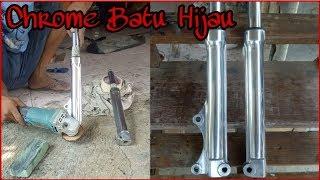 Bisa Bikin Motor Mu Jadi Keren!!! Chrome Polish Batu Hijau Shock Depan Motor Mio