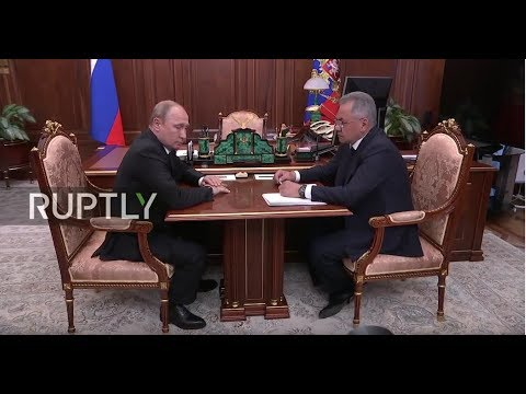 REFEED: Putin and Shoigu meet following Russian submarine fire that killed 14