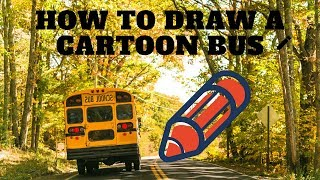 How to draw an American School bus