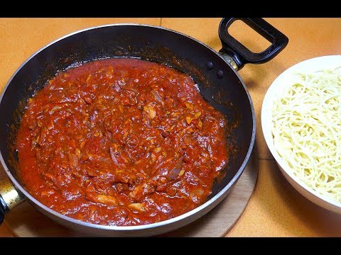 Spicy Tuna Tomato Pasta Sauce - Mid Week Easy Recipes - Tuna Pasta - Quick N Easy Tomato Pasta Sauce