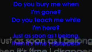 Metallica - I Disappear with lyrics on screen