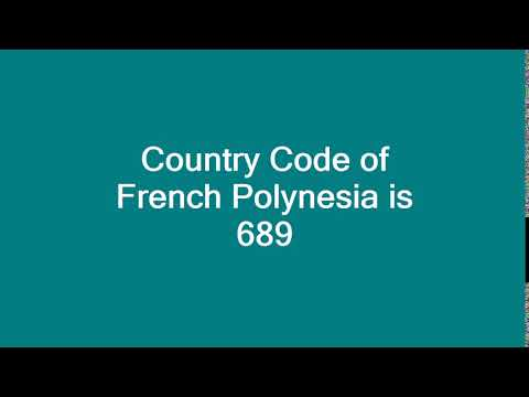 Country Code of French Polynesia is 689