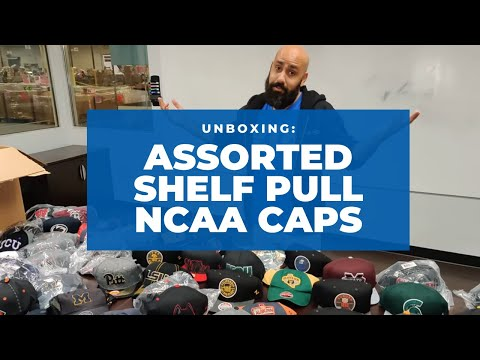 Unboxing: Assorted New Shelf-Pull NCAA Caps