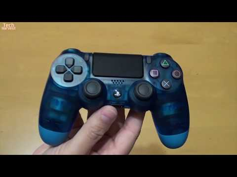 Crystal Blue Sony DualShock 4 Unboxing
