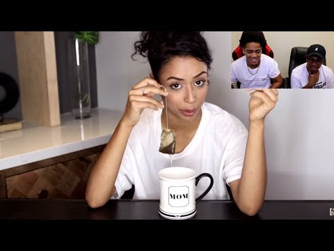 Thumbnail: Liza Koshy | THE REASON I DON'T DRINK... TEA WITH LIZA | REACTION