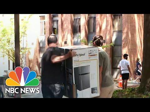College Students Returning To Campus With New Coronavirus Precautions | NBC Nightly News
