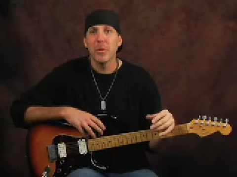 Learn lead guitar soloing Santana style blues scale lesson