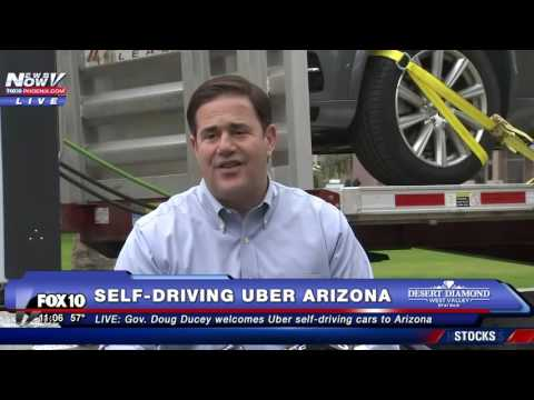 WOW: Self-Driving Uber Cars and Big Rig Truck Come to Arizona - Gov. Ducey PRESS CONFERENCE