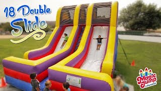 18' Double Lane Slide - Inflatable Dry Slide | Magic Jump, Inc.