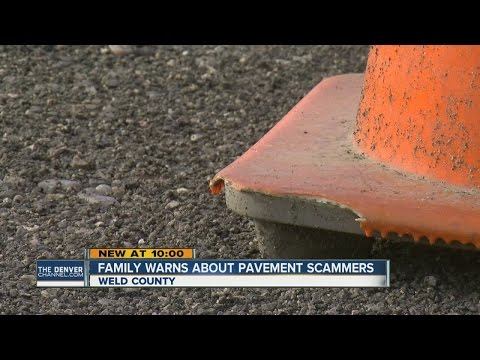 Family warns about pavement scammers in Weld County