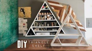 DIY Boho Triangle Shelf