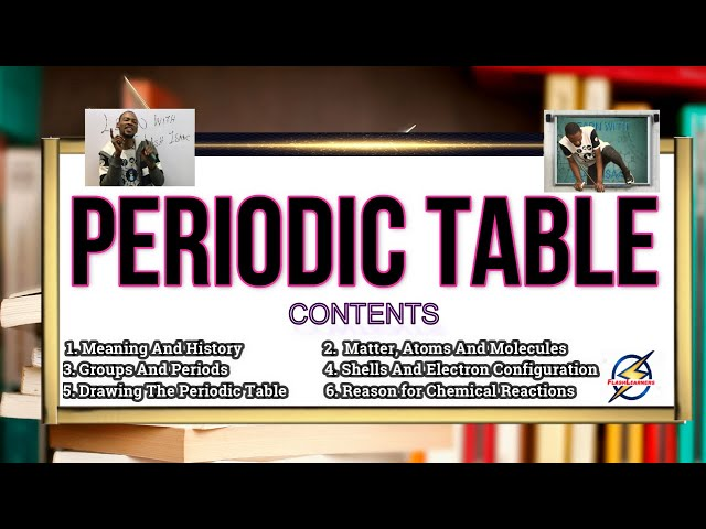 Periodic Table | Chemistry For Waec, Jamb And Post UTME