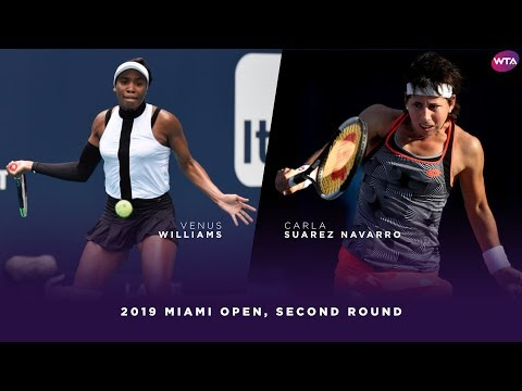 Venus Williams vs. Carla Suarez Navarro | 2019 Miami Open Second Round | WTA Highlights