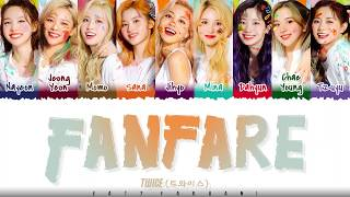Gambar cover TWICE - 'FANFARE' Lyrics [Color Coded_Kan_Rom_Eng]