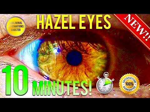 🎧GET HAZEL EYES IN 10 MINUTES! SUBLIMINAL AFFIRMATIONS BOOSTER! REAL RESULTS DAILY!