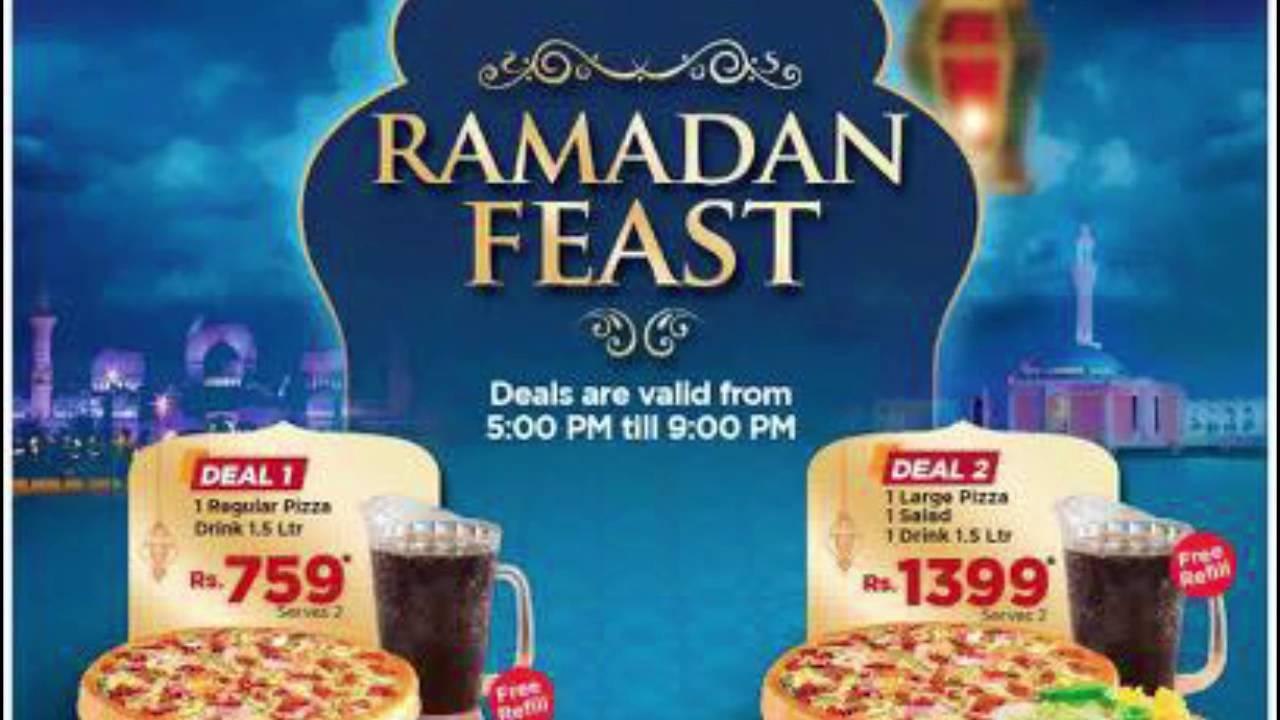 California Pizza Restaurant Ramadan Deal - YouTube