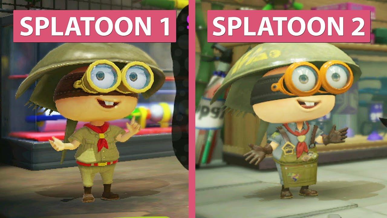 Splatoon 1 Wii U vs. Splatoon 2 Switch Demo Graphics Comparison ...