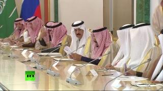 Путин проводит встречу с королём Саудовской Аравии