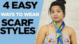 4 Easy Ways To Wear Scarf Style | Bhavneet | Beauty Squad Latest Videos 2018