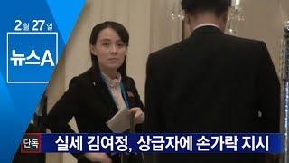 [단독]회담장에서 포착된 김여정…김창선에 손짓 지시 | 뉴스A