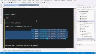 Bing Map Integration with ASP.NET MVC4 application
