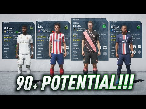 FIFA 20 CAREER MODE - ALL PLAYERS WITH 90+ POTENTIAL!!!