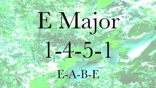 E Major Progression 1 4 5 1 I IV V I