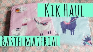 Kik Haul ✿ Bastelmaterial ✿ Papier ✿ Basteln mit Papier