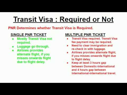 TRANSIT VISA Required Or Not    !!!